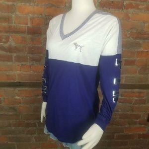 PINK Women's T=Shirt Navy Blue Purple Gray White S